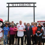 At the dedication of Ron Oester Field at Withrow High School, the former Reds second baseman was joined by the daughter of Jackie Robinson (Sharon) and Cincinnati Mayor John Cranley.