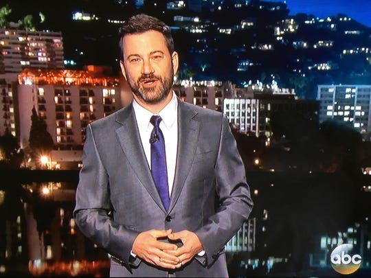 Jimmy Kimmel paid tribute to Prince on Thursday by wearing a purple tie.