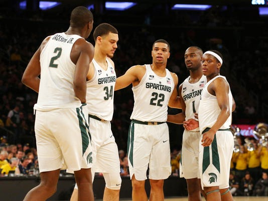 NCAA Basketball: Big Ten Conference Tournament-Michigan State vs Michigan