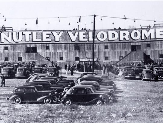 Crowds gather at the former Nutley Velodrome during