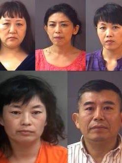 Jinna Luan (left) and Lu Wang were arrested.