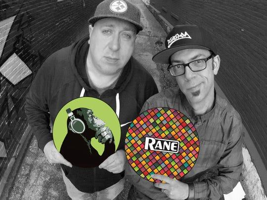 "DJ Fattie B. and DJ Rekkon contributed work for ""On the Flipside"" at Half Lounge in Burlington."