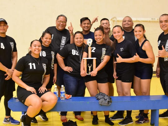 DepCor won the Tano Division Championship in the Government of Guam Department of Parks and Recreation Co-ed  Volleyball League on Friday, June 9 at the Dededo Sports Complex.