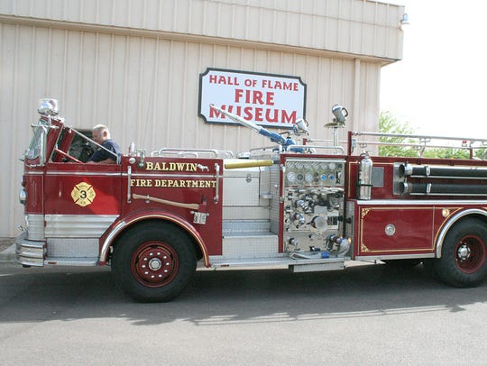 The Hall of Flame Museum of Firefighting has a large