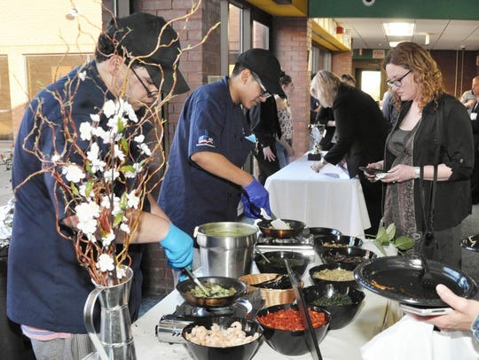 MCVTS Piscataway Campus culinary arts students serve