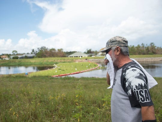 """When I see things like this it bothers me a lot,"" said Miguel Gonzalez Sr., of Port St. Lucie, who lives across the street from the C-24 Canal, where hundreds of dead fish and other animals like a turtle and an alligator are dead on Monday in Port St. Lucie. ""The vultures were here. They don't even want that,"" Gonzalez said. Gonzalez's son, Miguel Gonzalez Jr., reported the incident to the Florida Fish and Wildlife Conservation Commission."