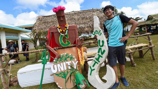 Unity Club member Nathaniel Belangue poses for a photo during the University of Guam's 49th Charter Day in Mangilao on March 14, 2017.