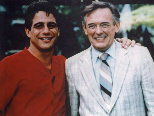 Jack Joseph, at right, interviewed actor Tony Danza, left, on a movie set. Joseph passed away in November.