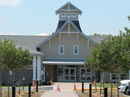 The new Lewes Public Library shares a site with the new rail trail.