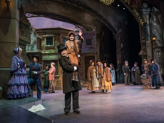 """A Dickens' Christmas Carol,"" pictured, and ""It's a Wonderful Life"" are Broadway-style original musical productions at Silver Dollar City's An Old Time Christmas. They are free with admission and very popular. Try the later shows, which are less busy, or buy Show Lovers passes for $10 each to get reserved seating."