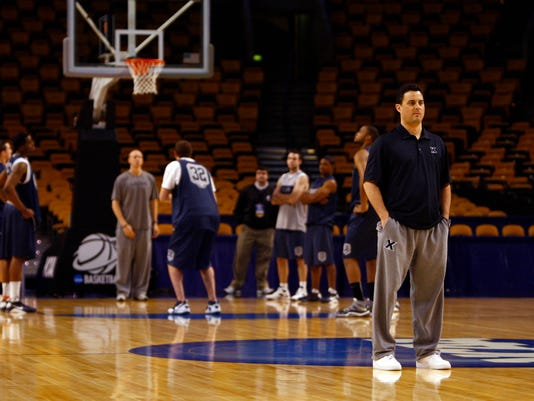 NCAA Basketball: Division I Championship-Xavier Practice