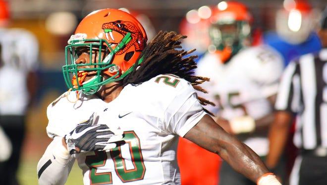 FAMU running back Tevin Spells score the go-ahead touchdown against Savannah State.