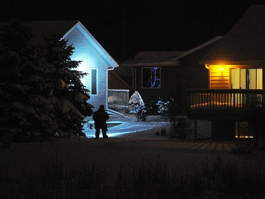 Sioux Falls Police officers involved in a standoff with a subject in a home on the 4800 block of South Equity Drive on Friday night.