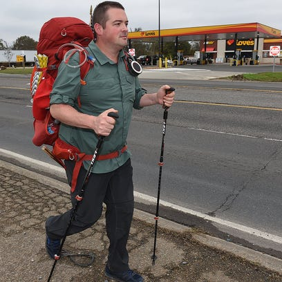 Eli Smith arrives in Port Barre on his quest to walk