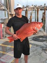 Rene Hernandez, 23, has been deep-sea fishing with