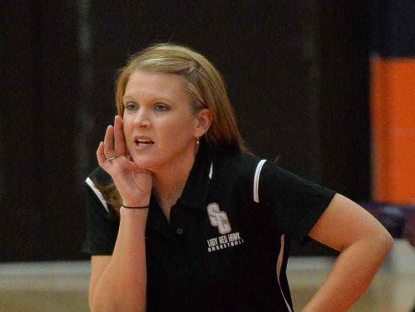 Stewarts Creek coach Lindy King gives instructions during an earlier game.