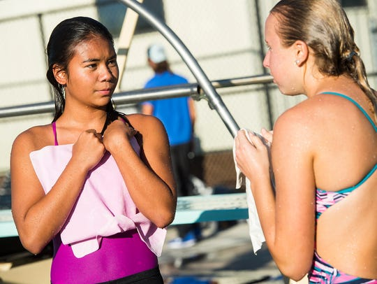 Kayla Cotter, Dunbar's first ever diver, will compete