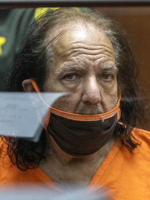 Adult film star Ron Jeremy appears for his arraignment on rape and sexual assault charges at Clara Shortridge Foltz Criminal Justice Center Friday in Los Angeles.