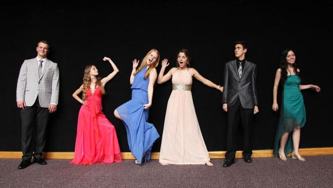 Whit Wiggins, left, of Southwest Florida Christian Academy, Emily Moser, of Cypress Lake High School, Heasther Mcfalls, of Evangelical Christian School, Kate Swafford, of South Fort Myers High School, Jacob Hunter, of Estero High School, and Alexis Ruiz, of Gateway Charter, are 6 of the 21 2014 News-Press Academic All-Stars.