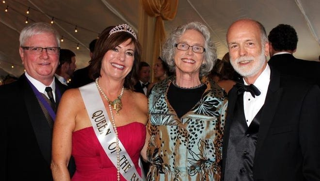 From left, Heritage Ball King and Queen Greg Flittner and Nancy Smith Flittner and Rudy Jordan and Chuck Wolfram.