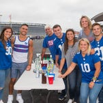 Giants fans gather for home opener at MetLife Stadium in East Rutherford