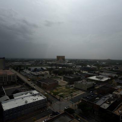 Downtown Shreveport on Tuesday morning.