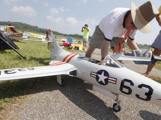 Flying Circus model aircraft air show at the Butler County Airport.