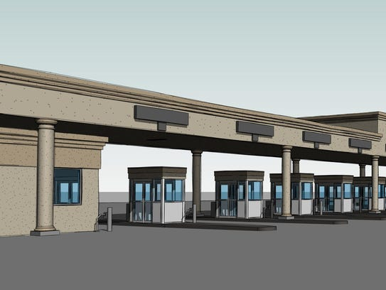 The new Kings Island Toll Plaza to enter the parking
