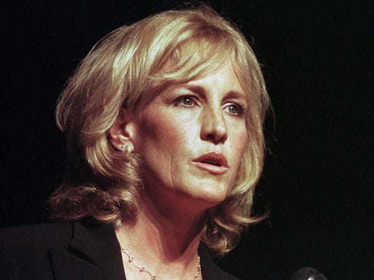 Erin Brockovich speaks at the Everywoman's Money Conference in Pittsburgh on Sept. 8, 2000. Brockovich will speak on Tuesday at three Navajo Nation high schools, including Shiprock High School.