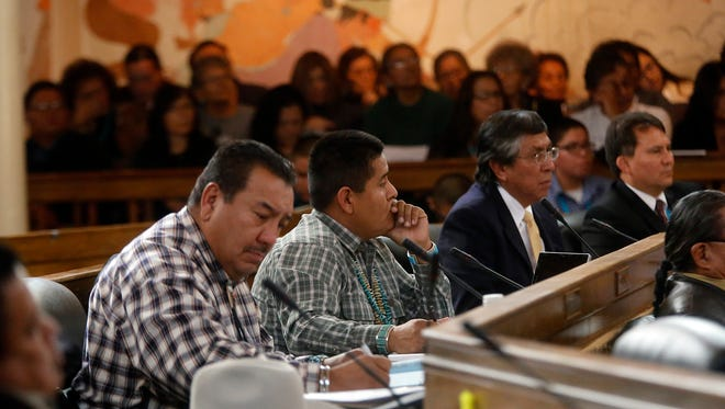 Members of the Navajo Nation Council meet Jan. 26 for the start of the 2015 Winter Session at the council chamber in Window Rock, Ariz. A special session of the council begins Friday.