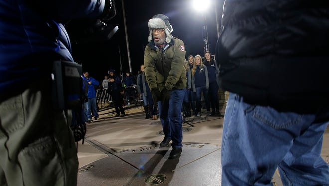 Weather forecaster Al Roker speaks on camera Monday during a Today show segment broadcast from the Four Corners Monument.