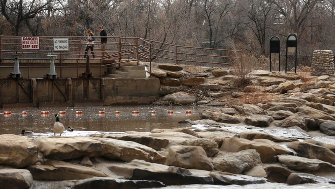 The Rocky Reach Terrace is pictured Wednesday along the Animas River in Farmington. City officials are hoping to land a grant to make improvements along the river.
