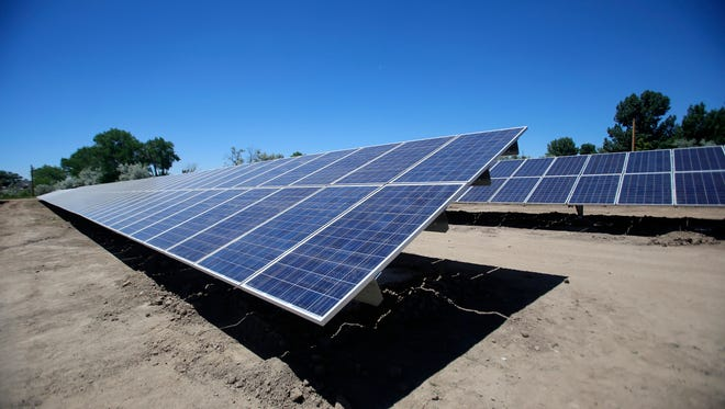 The city of Aztec's new solar farm is located off Western Drive.