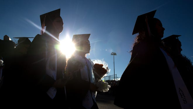 Aztec High School will have its graduation ceremony on May 22 and Vista Nueva High School's ceremony will be June 20.