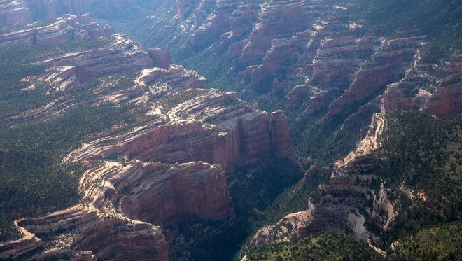 A portion of Arch Canyon as seen during a media helicopter tour of Bears Ears National Monument and the surrounding area in Southern Utah.