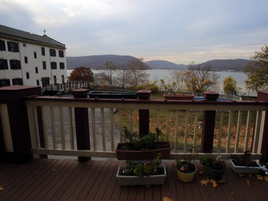 This deck collects water and pours into a storage room below, causing damage at the Franciscan Sisters convent in Peekskill.
