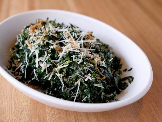 The organic Tuscan kale salad at True Food Kitchen.