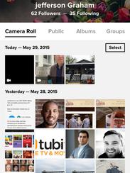 Flickr app for smartphones