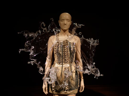 A dress from the Crystillization collection in the