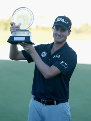 Webb Simpson celebrates his fourth career PGA Tour title.