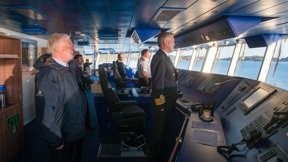 Viking Cruises chairman Torstein Hagen (left) on the