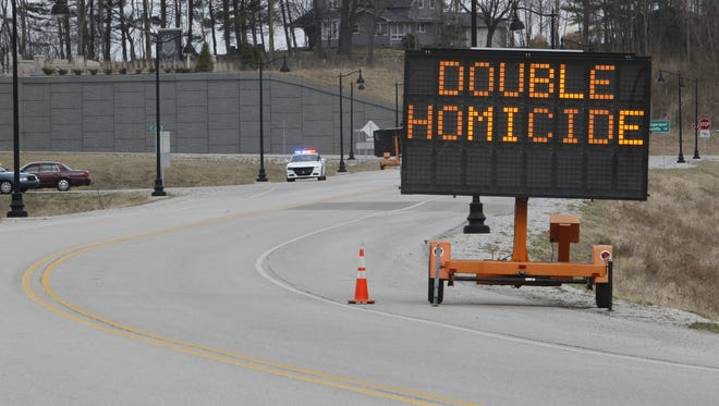 Indiana State Police set up checkpoints Monday, stopping motorists to ask if they knew anything about the Feb. 13 killings of Libby German and Abby Williams.