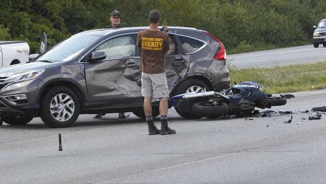 Yancarlos Morgado-Aguilar, who was injured in this accident Wednesday, is in stable condition.