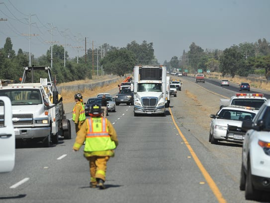 Highway 198 east was closed for a portion of Friday