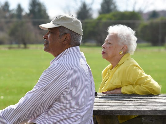 William Davis and Cora Mallory-Davis enjoy a moment in James Baird State Park in the Town of LaGrange.