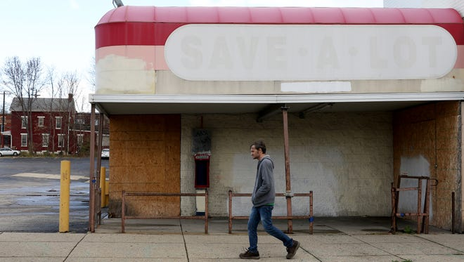 An abandoned Save-A-Lot sits at 4145 Apple St. in Northside.