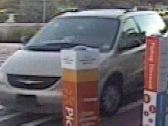 Vehicle used by suspects in the theft of thousands