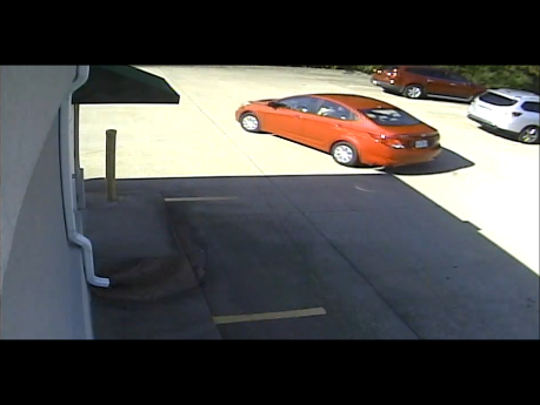 Clarksville Police are looking for this vehicle in connection with ATM fraud at U.S. Bank.