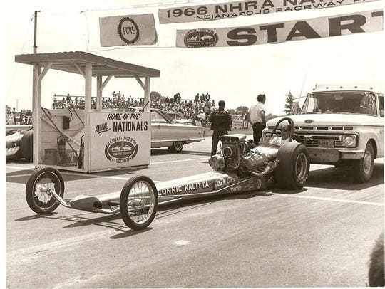Connie Kalitta, shown in his Top Fuel dragster at the