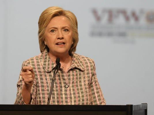 Hillary Clinton speaks to VFW